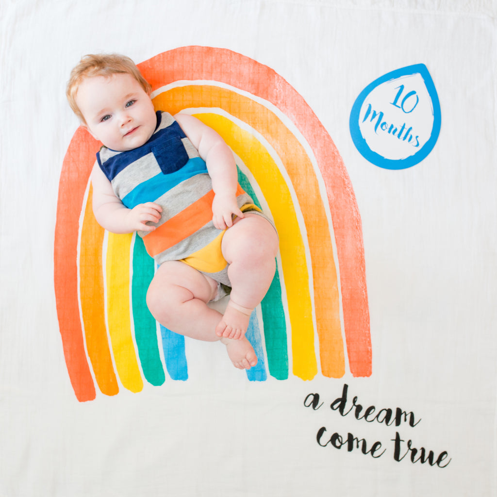 A Dream Come True Baby's First Milestone Blanket/Cards