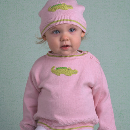 Alligator Sweater Pink