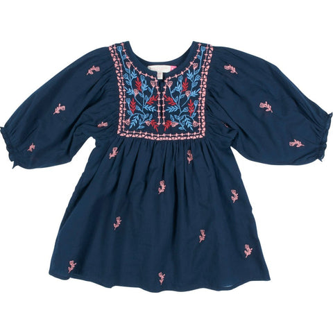 Blue Embroidery Ava Bella Dress