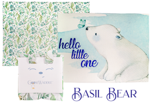 Load image into Gallery viewer, Basil Bear & Leaves 2Pk GooseWaddle Receiving Blankets