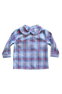 Boys Piped Shirt-Cashmere Plaid