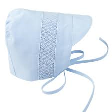 Blue & White Boy Smocked Bonnet