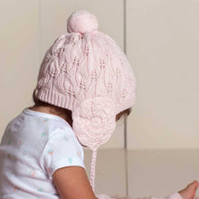 Load image into Gallery viewer, Filigree Lace Blush Pink Beanie Hat