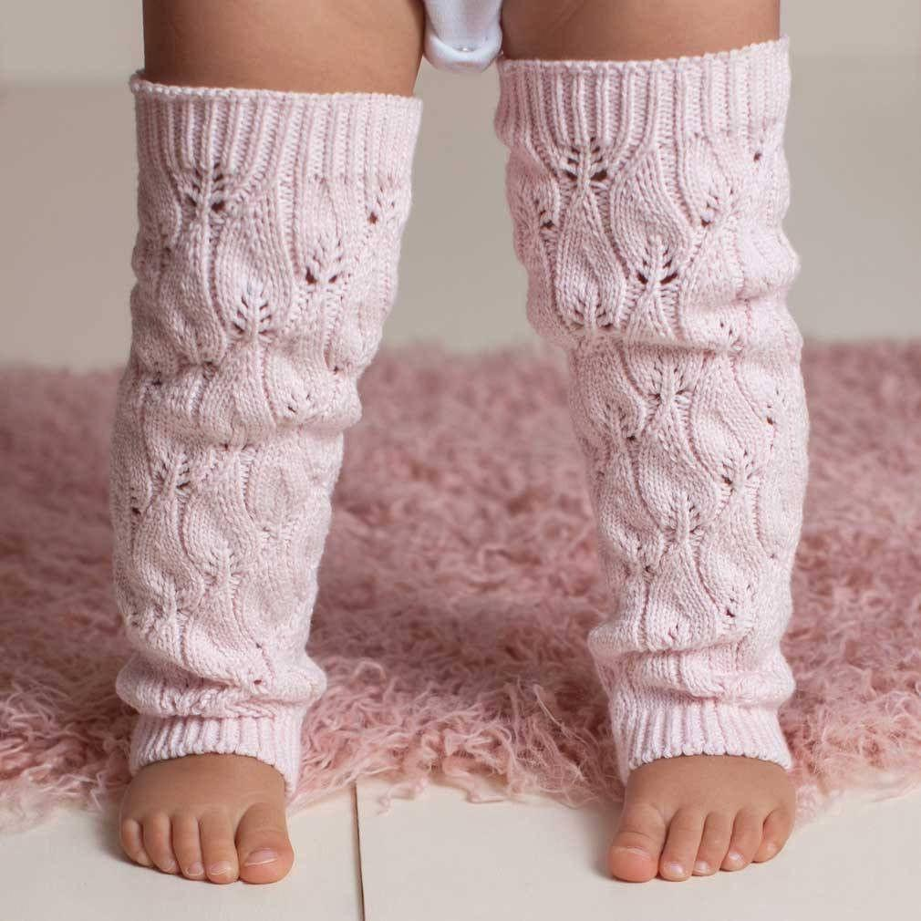 Filigree Blush Pink Lace Legwarmer