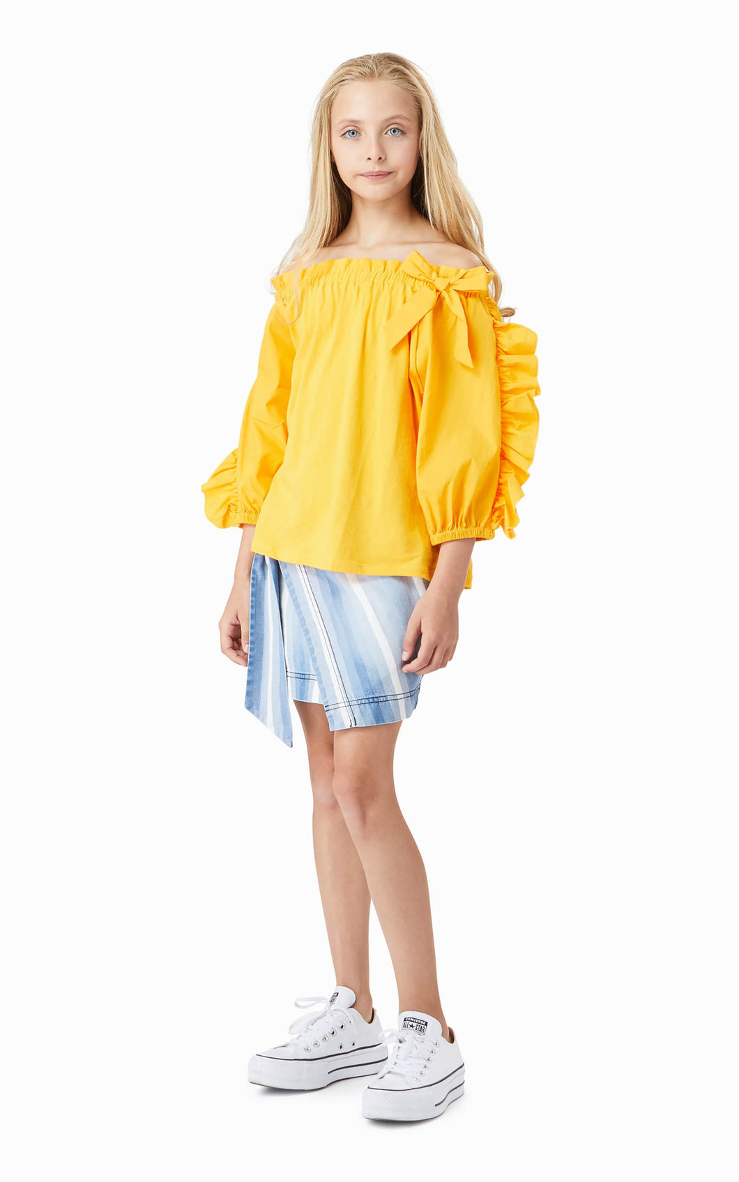 Eastyn Fit & Flare Yellow Top
