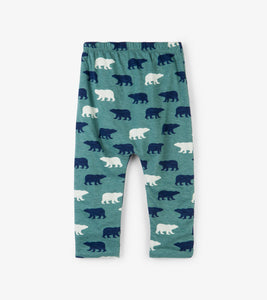 Polar Bear Silhouettes Baby Reversible Pants