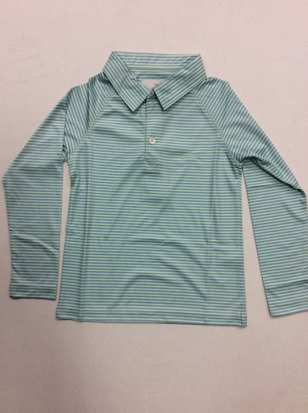 Mint & Blue Stripe Polo
