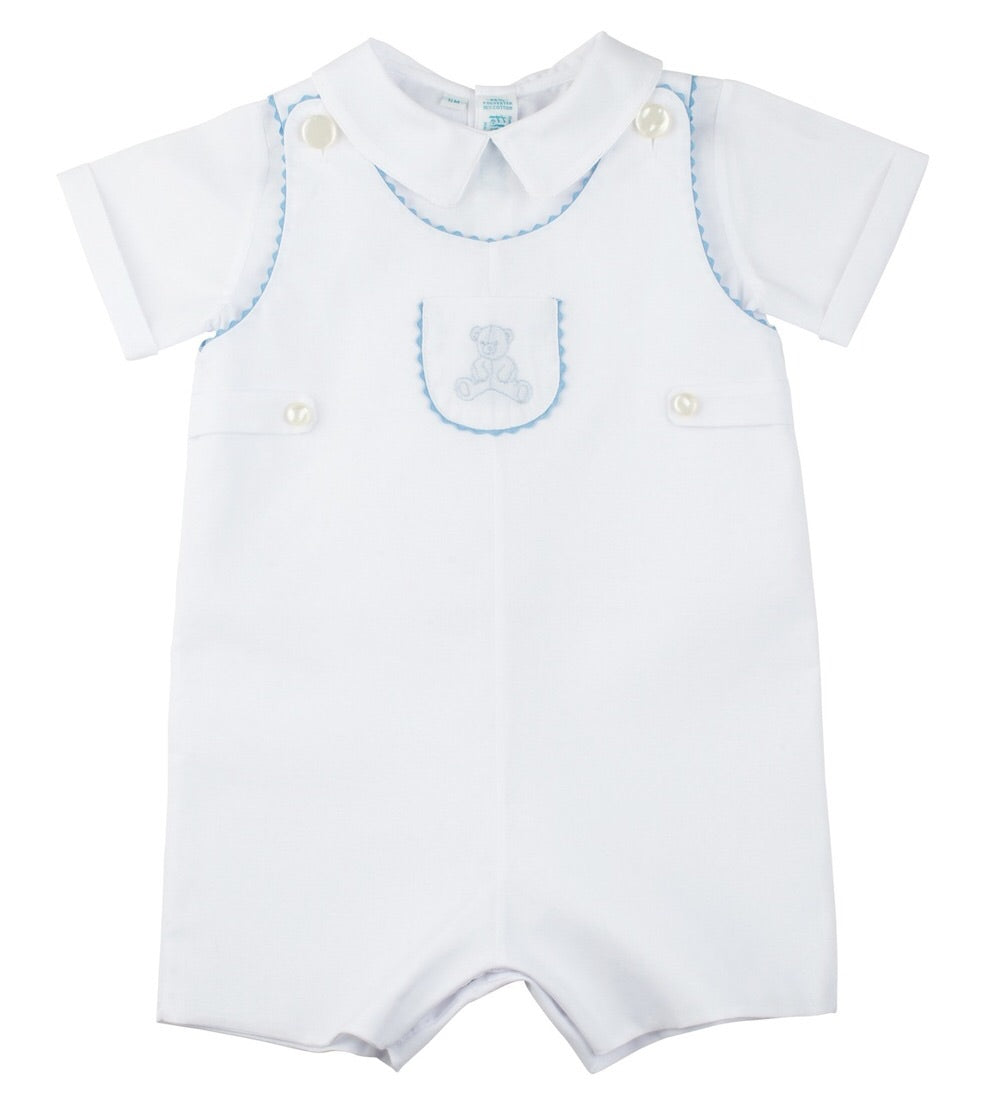 Teddy Bear Shortall Romper W/Shirt