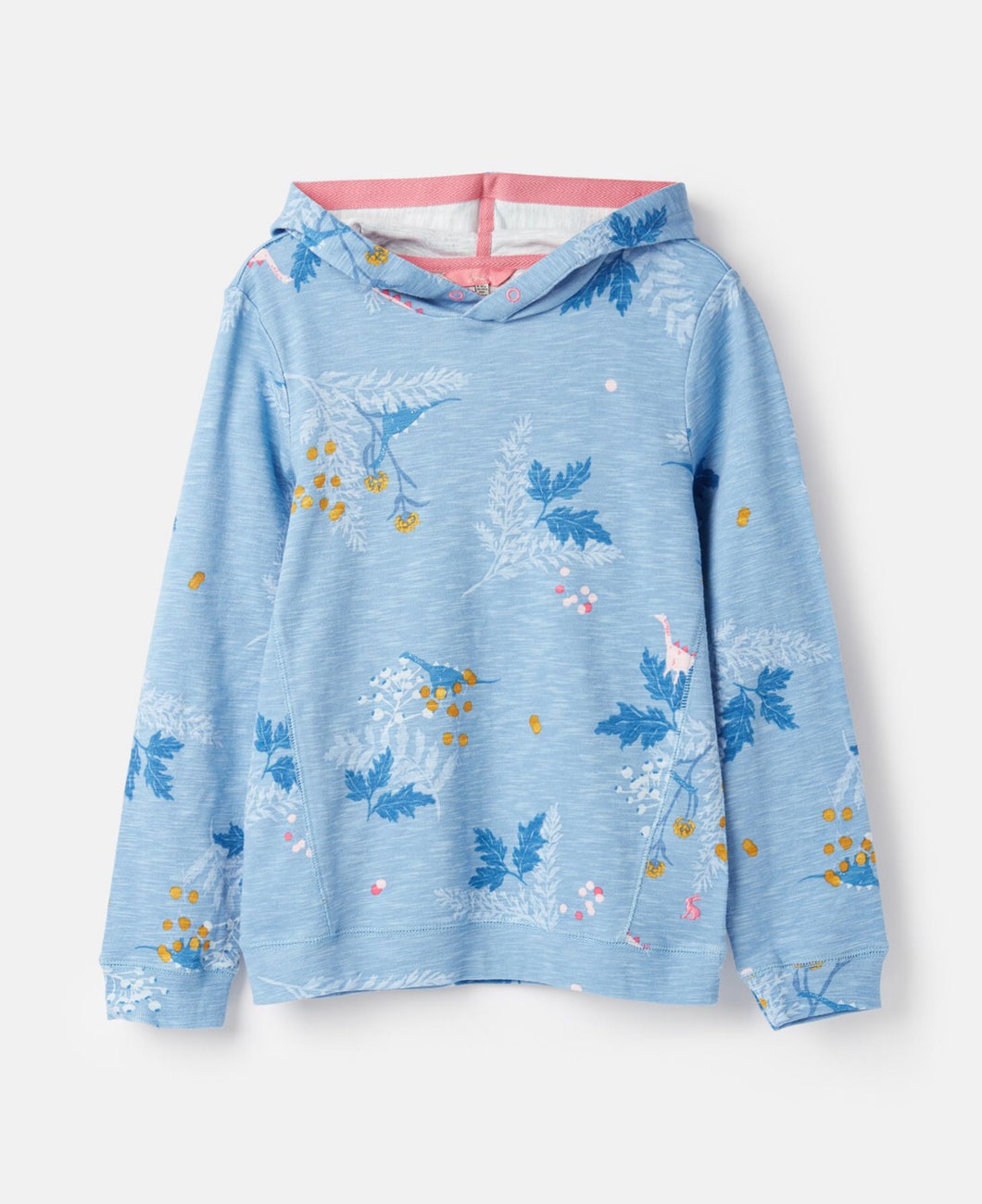 Blue Dino Floral Marlston Hooded Sweatshirt