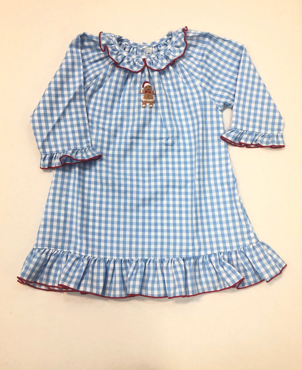 Gingerbread Blue Check Gown
