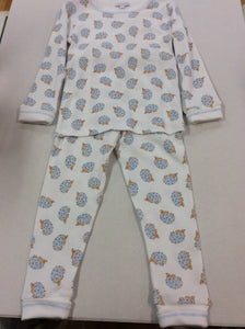 Blue Hedgehugs & Kisses Pajamas