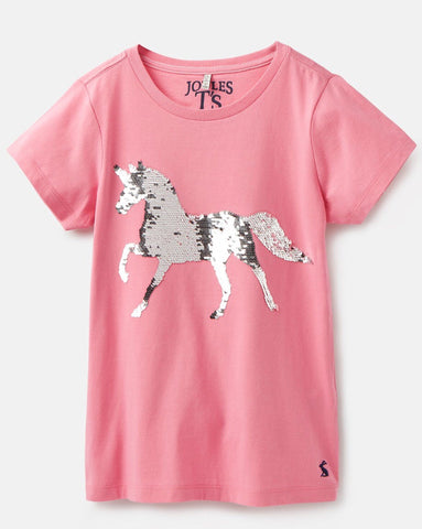 Astra Pink Horse Sequence Tee