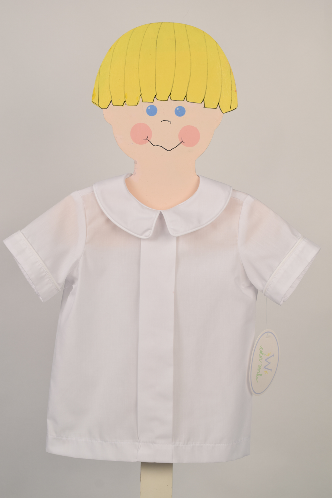 White Front Pleat Shirt