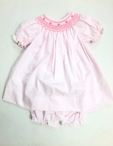Pink Valentine's Day Dress & Bloomer Set