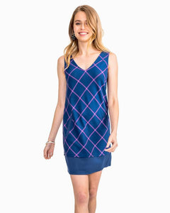 Emmie Blue Plaid Shift  Dress