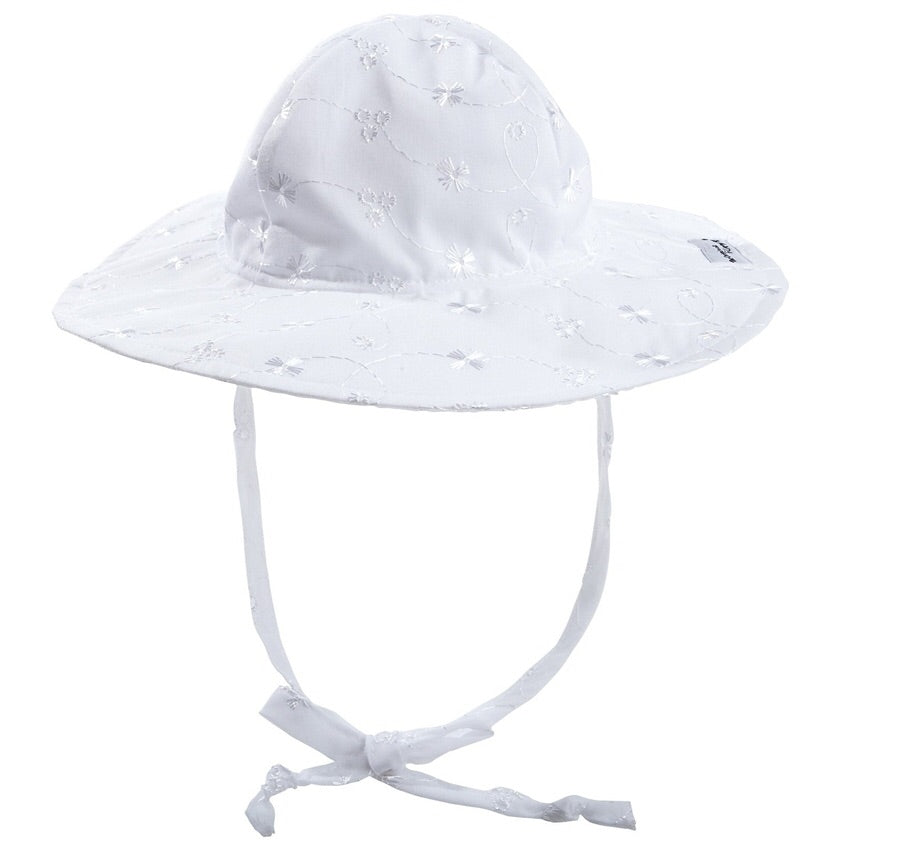 White Eyelet UPF50+ Floppy Hat