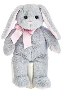 Lil Mopsy Gray Bunny with Pink Ears
