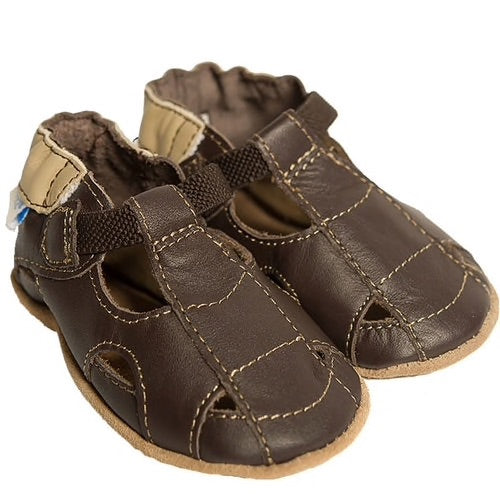 Brown Fisherman Soft Sole Sandal Robeez