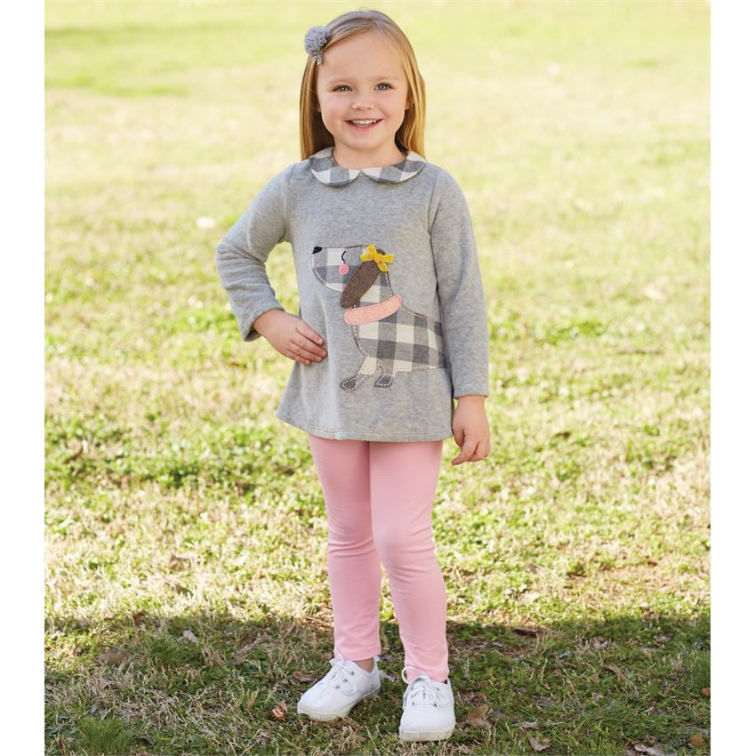 CHECK PUPPY TUNIC & LEGGING SET