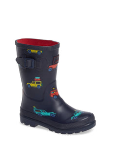Navy Scout Boys Printed Welly