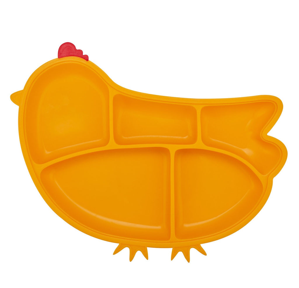 Chicken Silicone Suction Yellow Plate