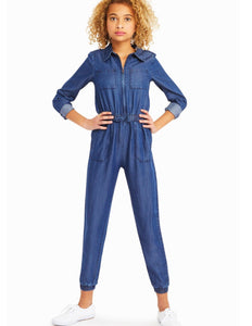 Noah Hatchi Tencel Jumpsuit