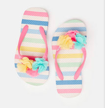 Load image into Gallery viewer, White Pastel Stripe Flip Flop