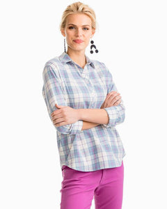Radiant Orchid Melrose Plaid Hadley Popover