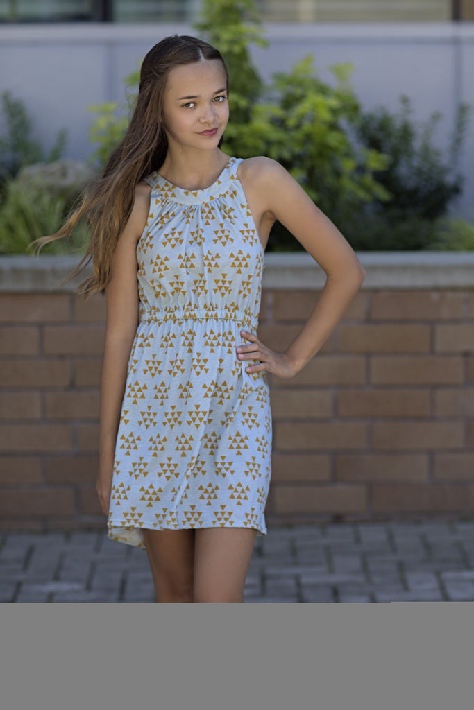 Ava Gold Triangle Dress