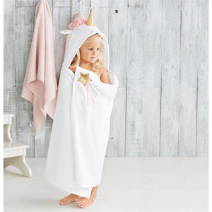 Unicorn Hooded Towel Mudpie