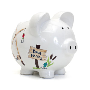 Gone Fishing Piggy Bank
