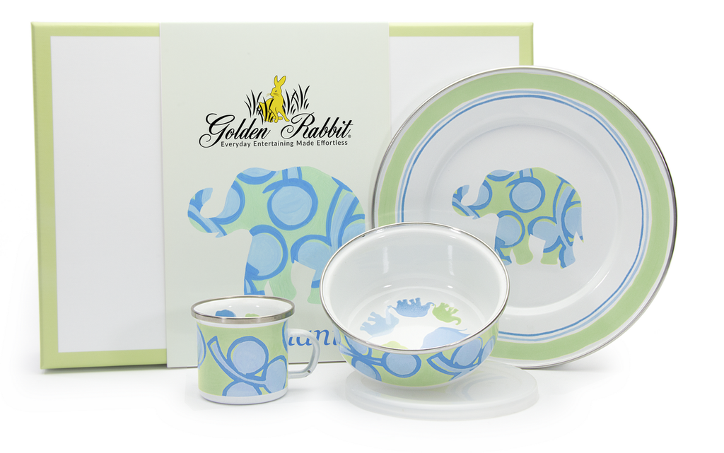 Elephant Children's Boxed Dish Set