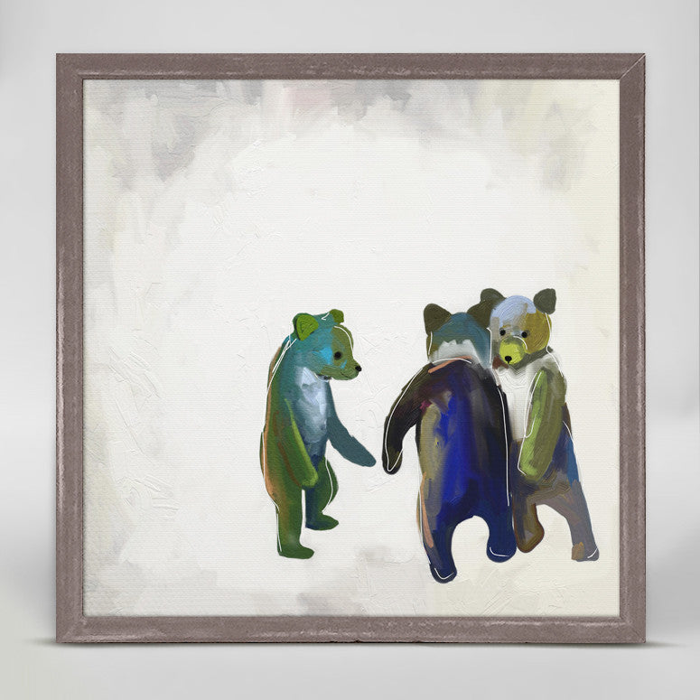 Little Dancing Bears Mini Framed Canvas