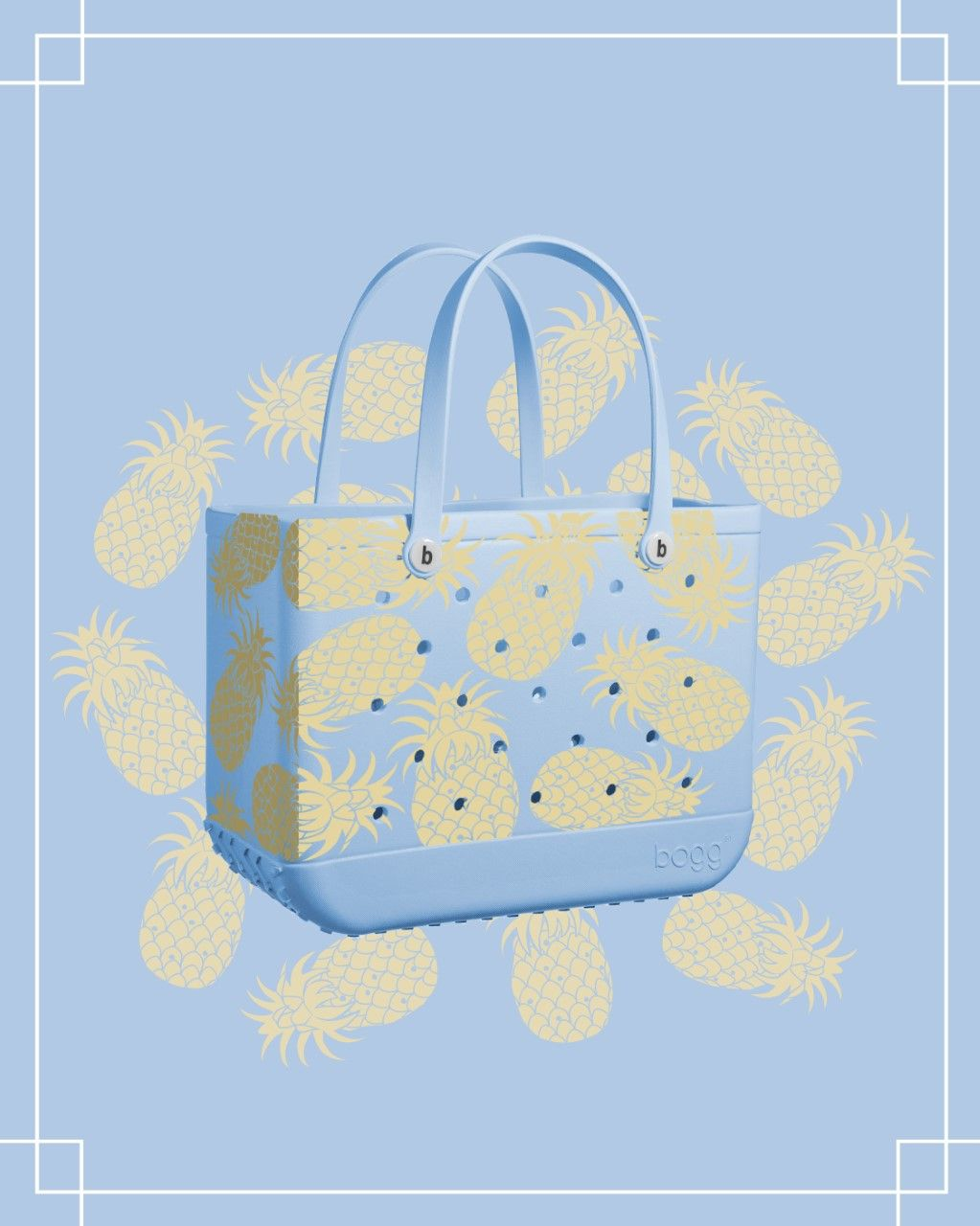 Pineapple Print Large Bogg Bag