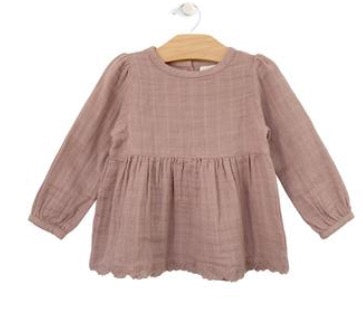 Dusty Rose Muslin Lace Tunic & Bloomers