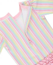 Load image into Gallery viewer, Rainbow Stripe Once Piece Rash Guard
