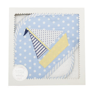 Sailboat Boxed Hooded Towel & Washcloth Set