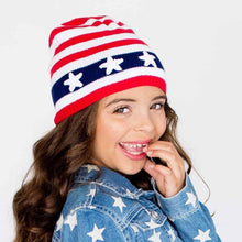 Load image into Gallery viewer, Stars & Stripes Beanie Hat