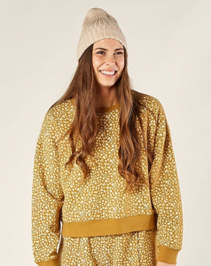 Golden Berry Boxy Pullover