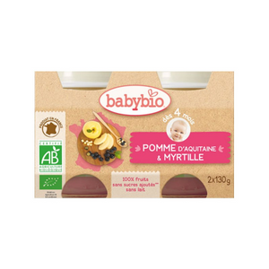 Duo Babybio Pomme Myrtille