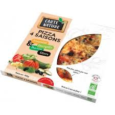 Pizza 4 saisons carte nature