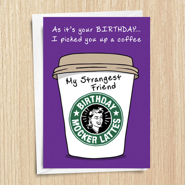 Aunty Acid Coffee Cup Greetings Cards