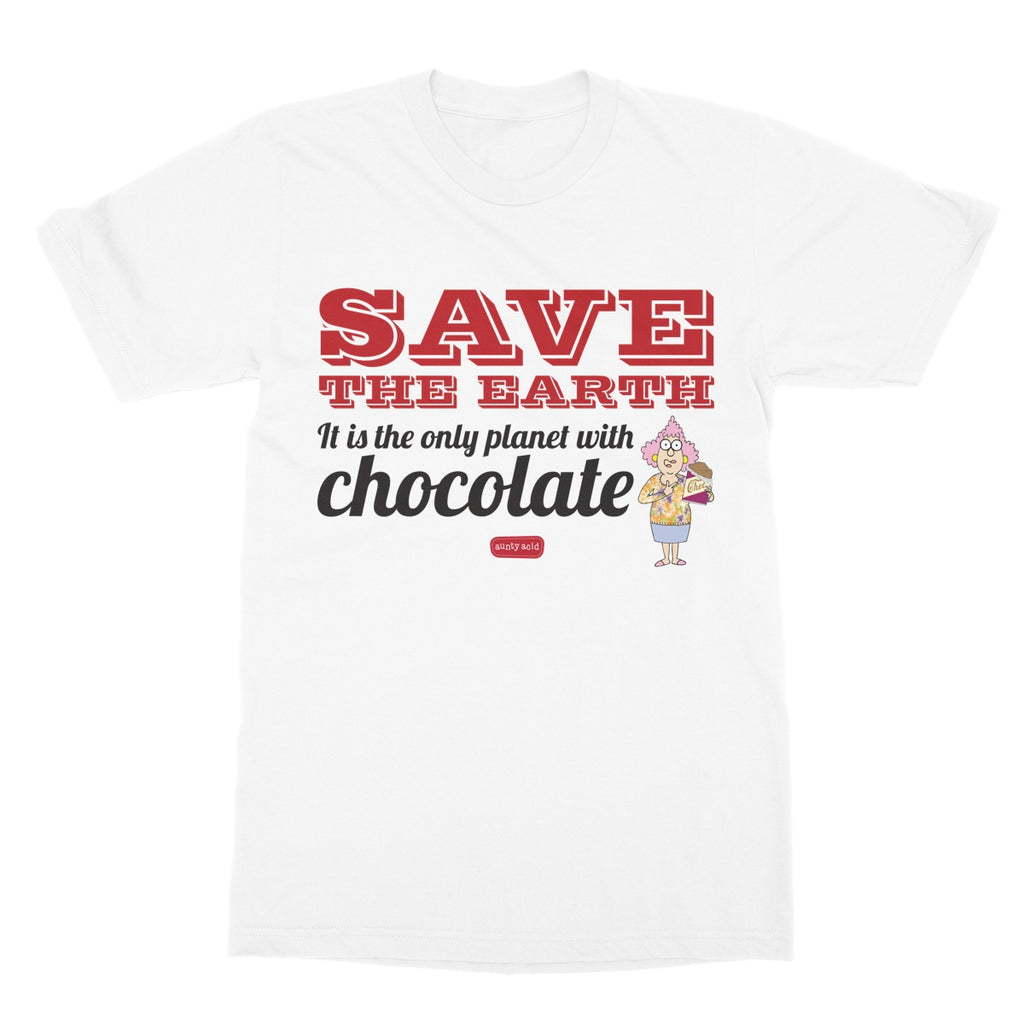 Aunty Acid Save Chocolate Softstyle T-Shirt - The Official Aunty Acid Store