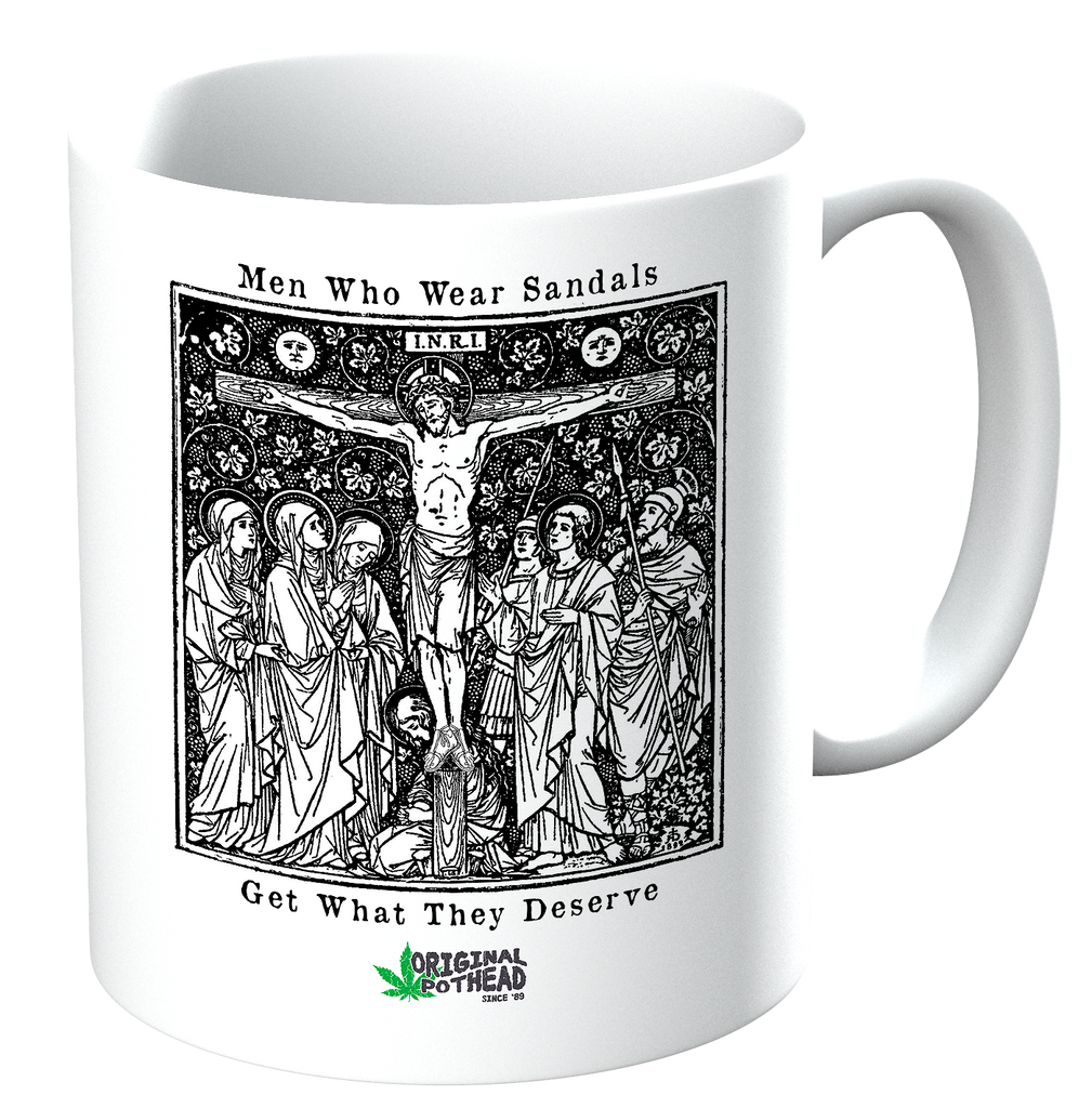 Potheads Men Who Wear Sandals 01 Mug - The Official Aunty Acid Store