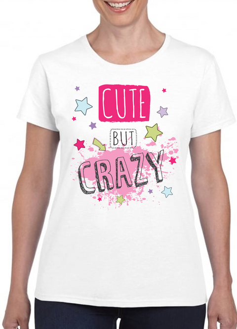 Queens Of Sass Cute But Crazy 01 T-Shirt - The Official Aunty Acid Store