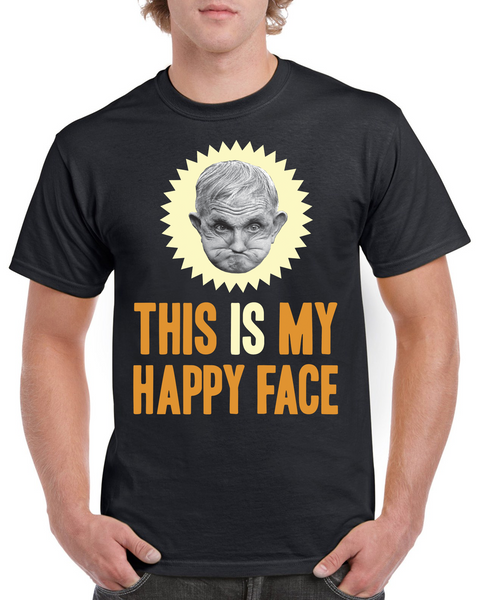 Grumpy Old Gits Happy Face T-Shirt - The Official Aunty Acid Store