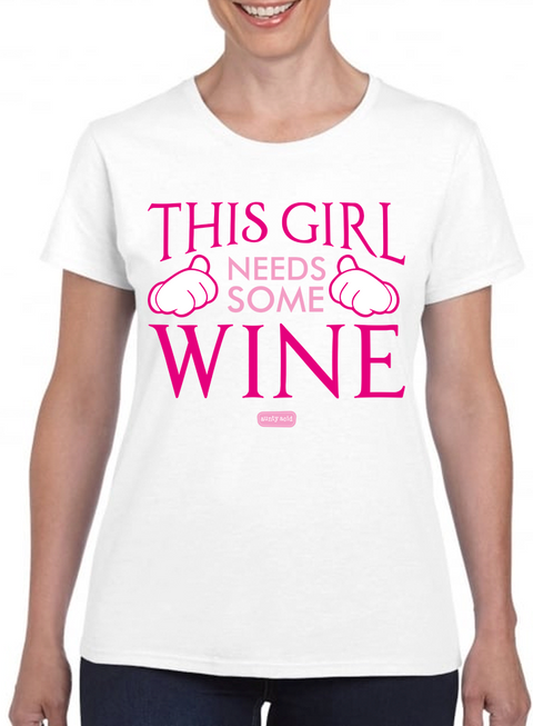 Aunty Acid Needs Some Wine T-Shirt - The Official Aunty Acid Store