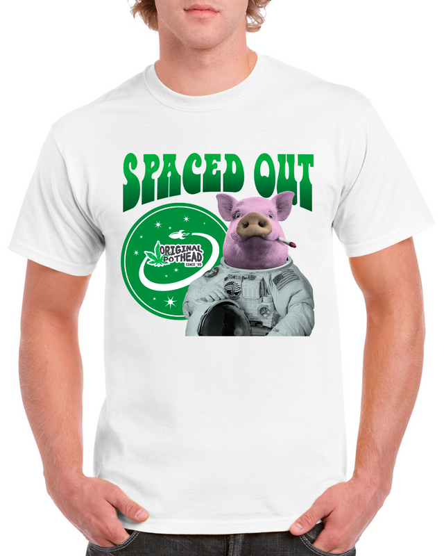 Potheads Spaced Out Pig T-Shirt