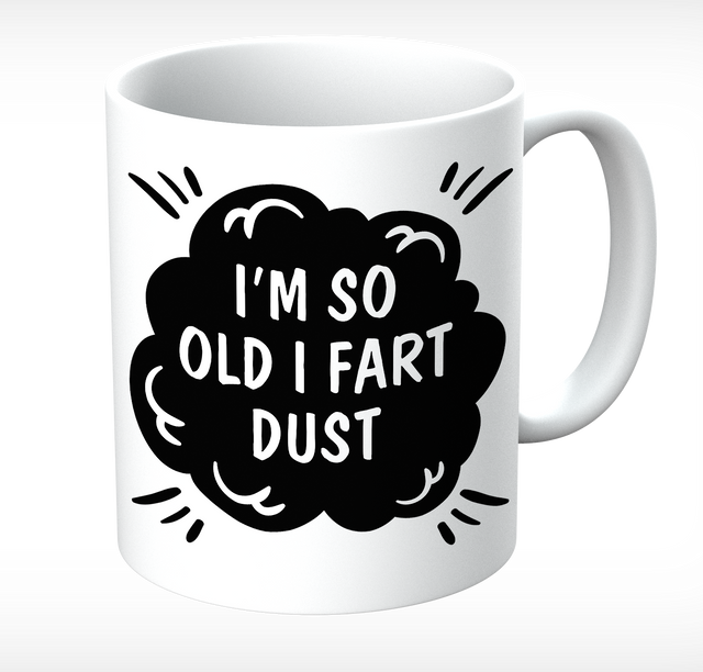 Grumpy Old Gits Fart Dust Mug - The Official Aunty Acid Store