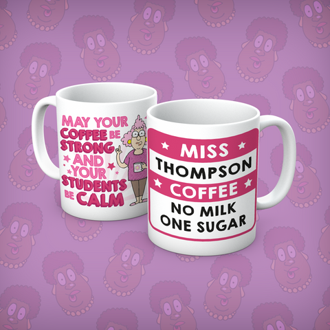 Aunty Acid Students Be Calm Personalised Mug - The Official Aunty Acid Store